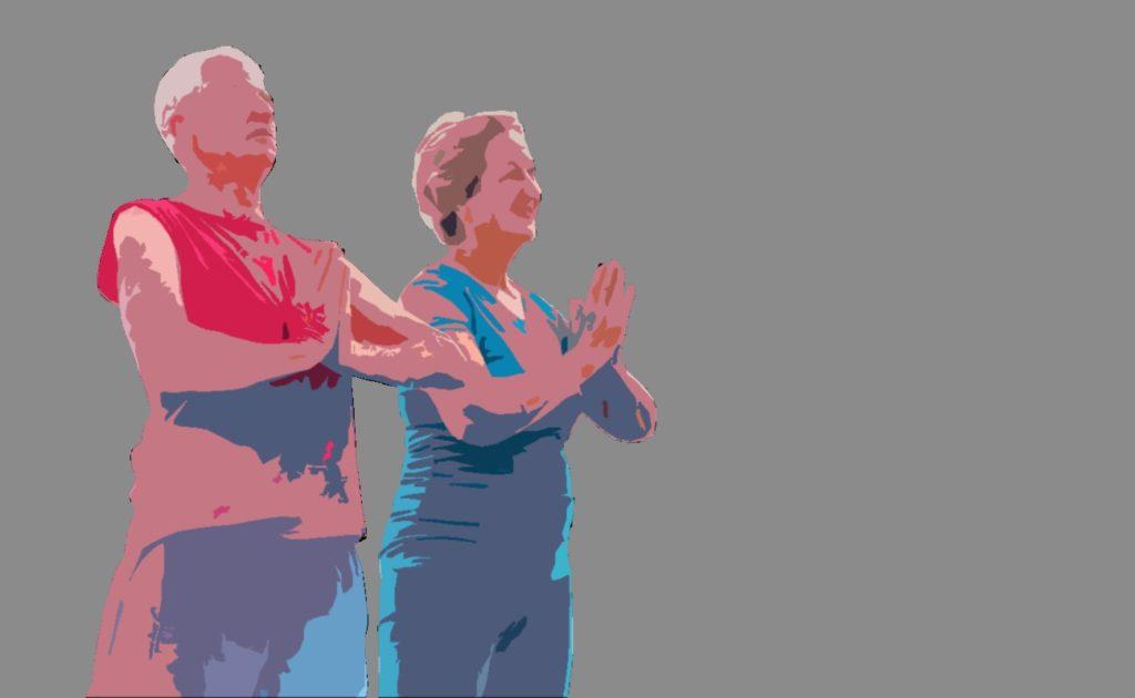 Yoga for Parkinson's senior yoga pose