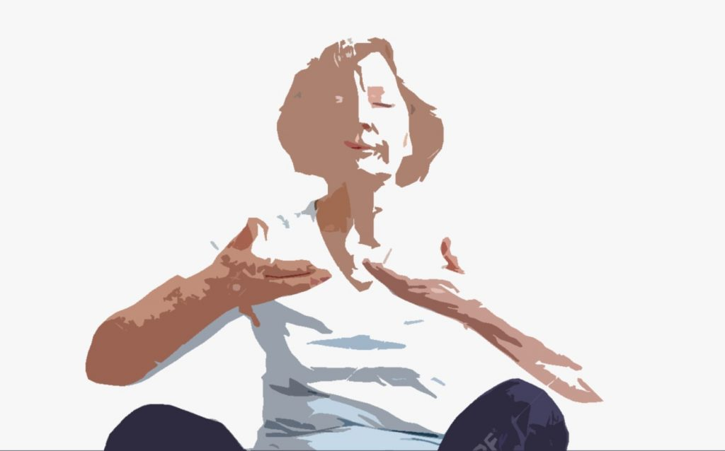Yoga for Parkinson's senior therapy pose